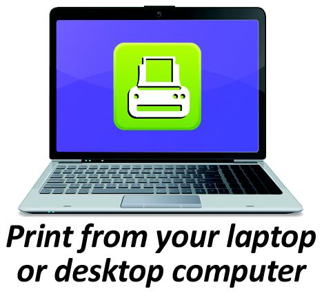 Print from a laptop pr desktop computer