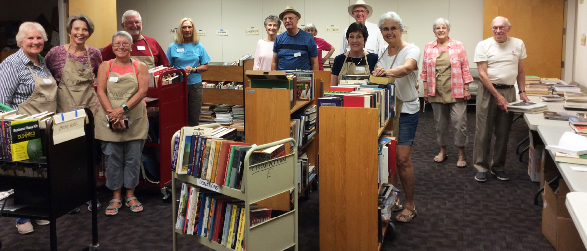 Friends Members helping at book sale