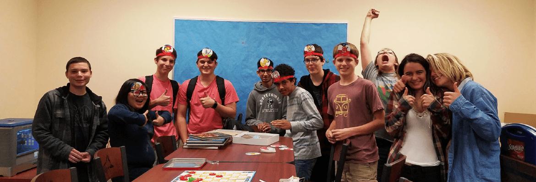Teens gaming at SJCPLS