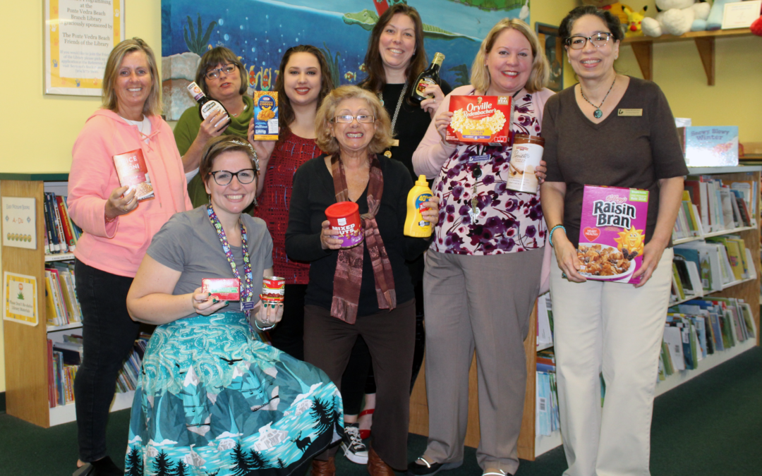 Through Food for Fines, patrons donate almost 9,000 items for the County's HHS Food Pantry