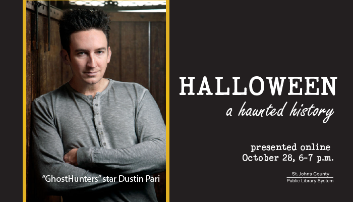 "Library Presents Live Virtual Event with ""GhostHunters"" Star Dustin Pari"