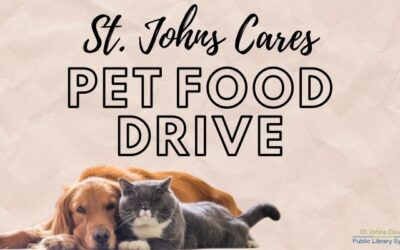 Three Public Libraries Host St. Johns CARES, Inc. Pet Food and Bedding Drive