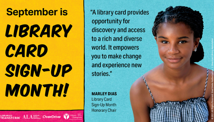 September is Library Card Sign-up Month! Your Library Card: The Best School Supply of All