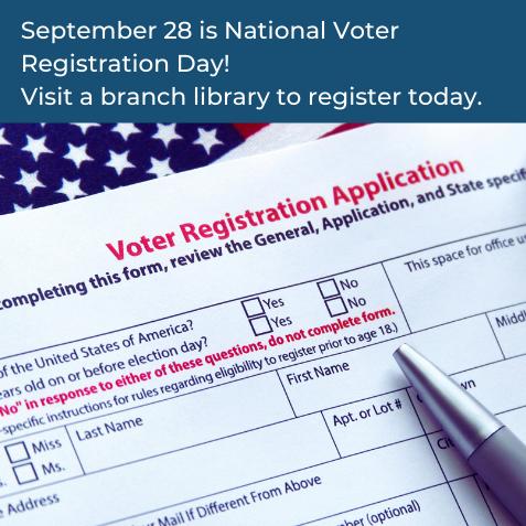 September 28 is National Voter Registration Day